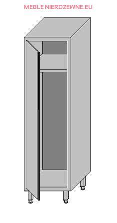 Chłodny Szafa na środki czystości jednokomorowa 500x600x1800 XG58